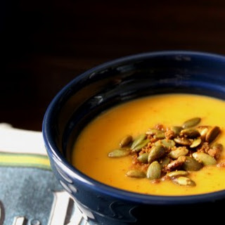 Butternut Squash Soup with Gingersnap Pumpkin Seeds