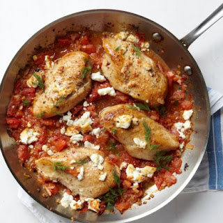 Chicken with Tomatoes and Feta Recipe