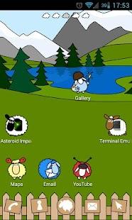 Sheep Farm Theme GO Launcher