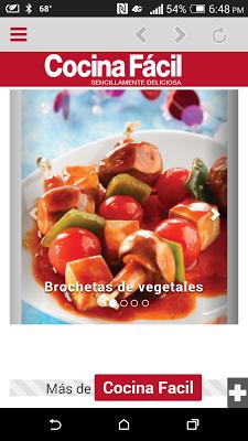 Cocina Fácil Móvil - screenshot
