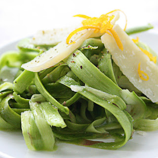 Shaved Asparagus Salad with Meyer Lemon & Pana Gradano