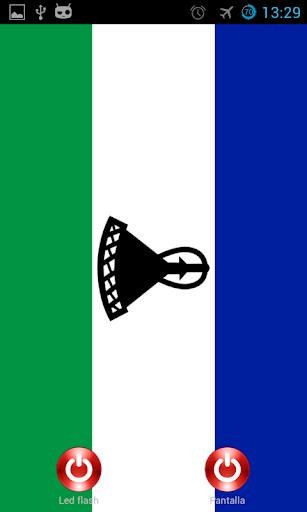 Lantern flash screen Lesotho