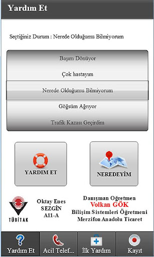 Acil Yardu0131m 0.0.1 screenshots 1