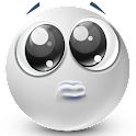 Text Smileys ™ Bianco icon