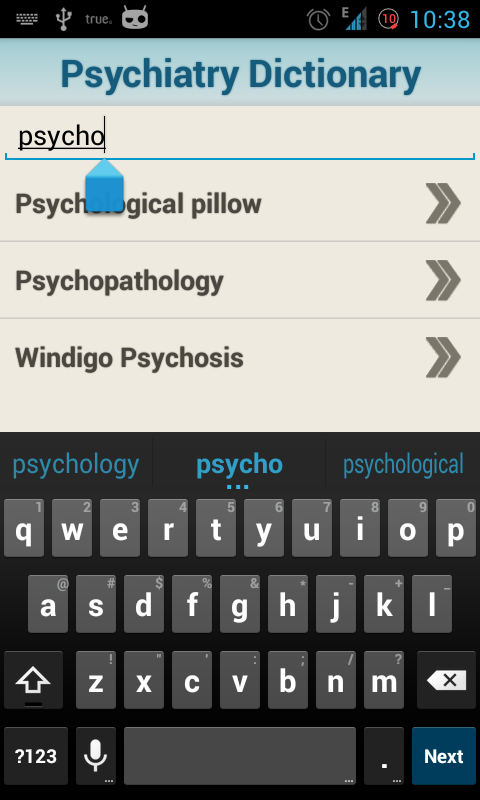 Medical Psychiatric Dictionary- screenshot