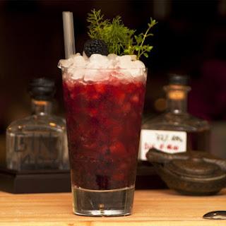Black Bison Vodka Cocktail.