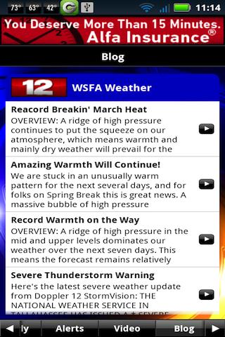 Wsfa channel 12 news weather