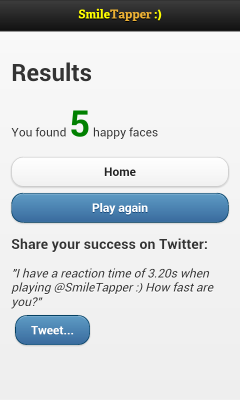 SmileTapper :)- screenshot