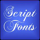 Script 2 para FlipFont® gratis icon