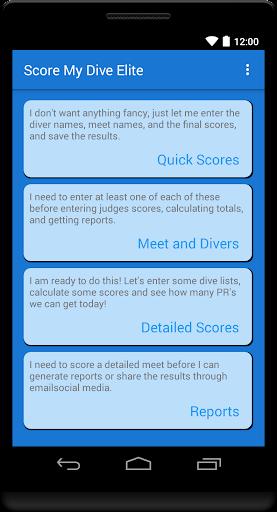 Score My Dive Elite Calculator