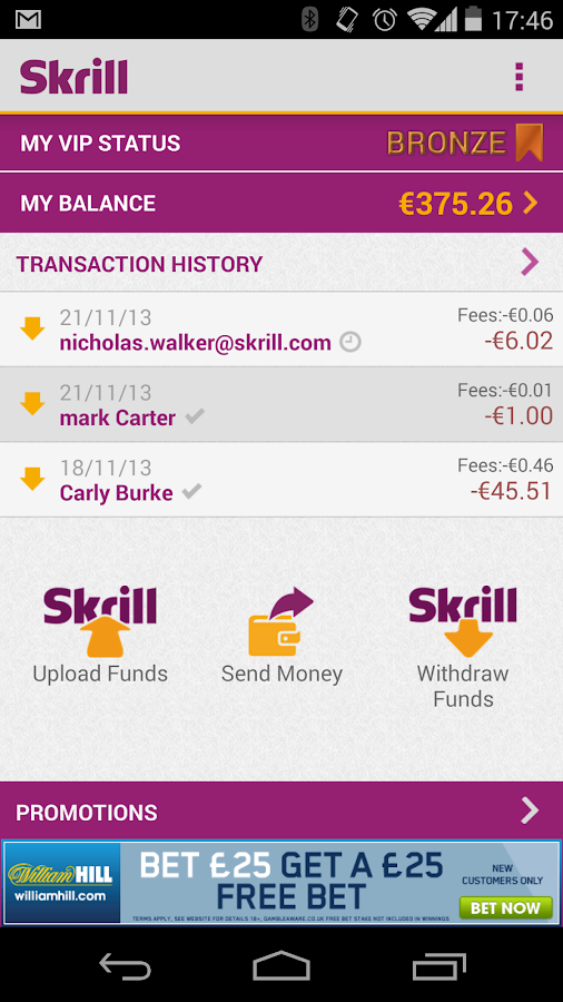 Skrill – Screenshot