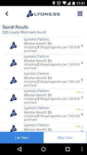 Lyoness Mobile Screenshot