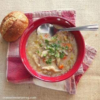 Shiitake Leek Soup with Quinoa