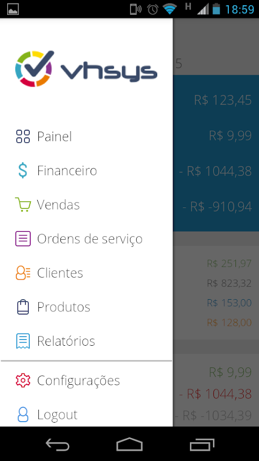 VHSYS Pedidos & Vendas- screenshot