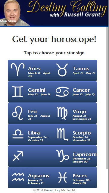 Horoscopes from russell grant android apps on google play horoscopes from russell grant screenshot urmus Image collections