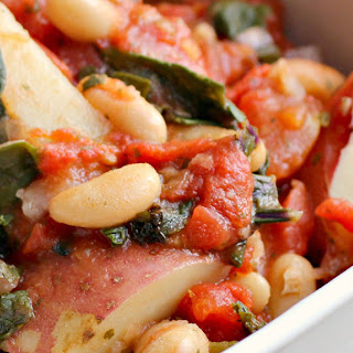 Italian White Bean, Kale and Potato Stew.