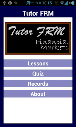 Tutor FRM 2 Financial Markets