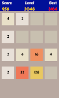 Screenshot of 2048 Swype