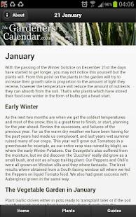 Gardeners Calendar - screenshot thumbnail