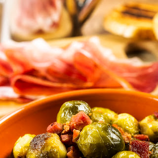 Roasted Brussels Sprouts With Balsamic Vinegar & Pancetta