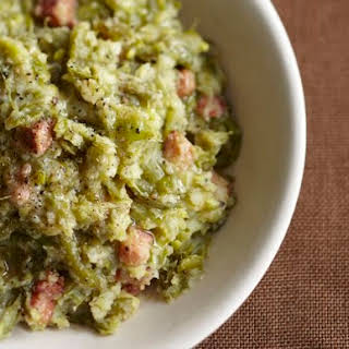 Smashed Green Beans and Potatoes with Pancetta from 'The Glorious Vegetables of Italy'.