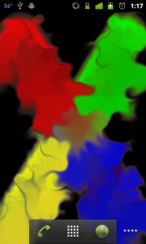 Samsung Finger Paint Full LWP- screenshot
