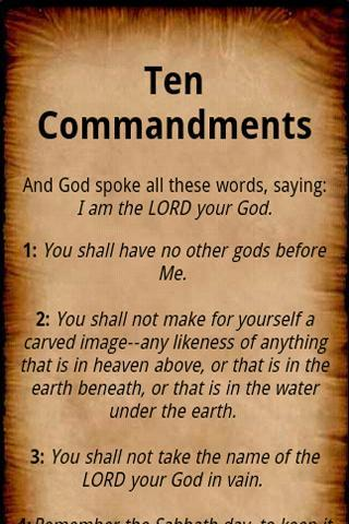Ten Commandments- screenshot