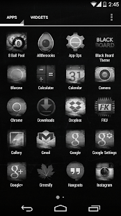 BLACK BOARD APEX/NOVA/GO THEME - screenshot thumbnail