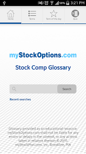 Stock Compensation Glossary- screenshot thumbnail