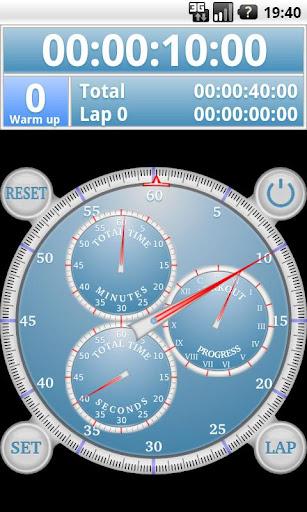模擬間隔秒錶