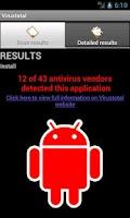 Screenshot of VirusTotal