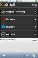 Screenshot of topShelf Mobile Inventory
