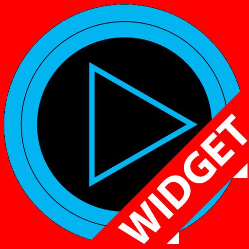 Poweramp skin widget TRON BLUE