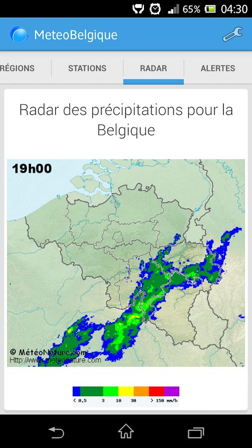 Météo en Belgique - screenshot