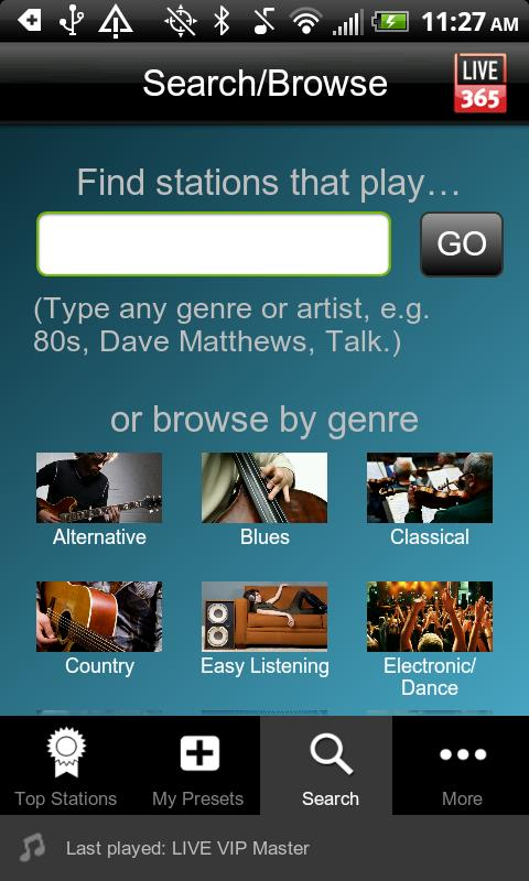 Live365 Radio - screenshot