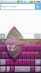 GO Keyboard Ladies theme - screenshot thumbnail