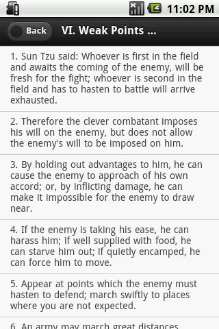 The Art of War E-Book - screenshot