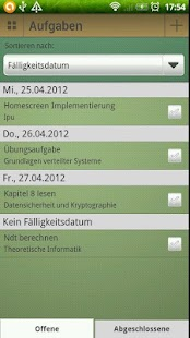 Study timetable - screenshot thumbnail