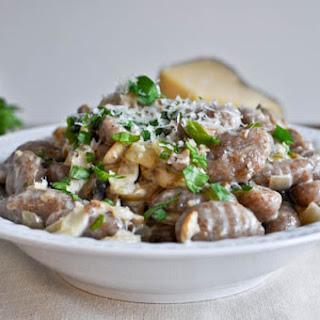 Creamy Mushroom Gnocchi.