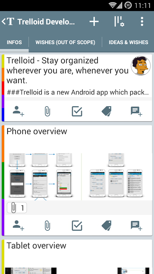 Trelloid - screenshot