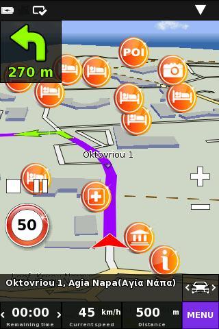 Cyprus On Road GPS Navigation- screenshot