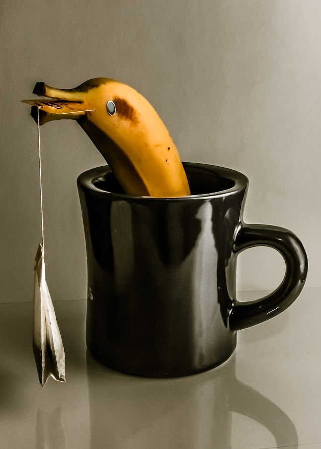 Dolphin Banana by Nabeel Madarati - Artistic Objects Still Life