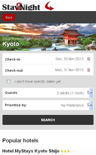 Kyoto Hotel finder