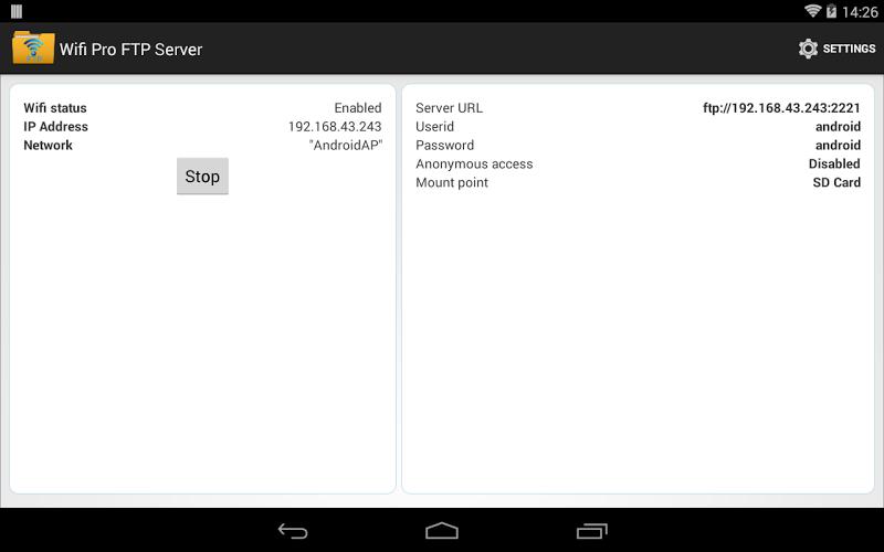 WiFi Pro FTP Server Screenshot 6
