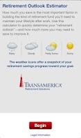 Screenshot of Retirement Outlook Estimator
