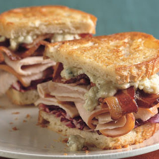Grilled Turkey, Bacon, Radicchio, and Blue Cheese Sandwiches.