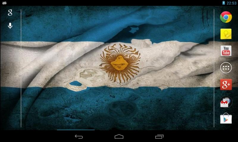 Flag of Argentina wave effect - screenshot