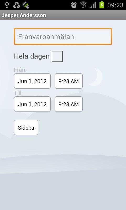 Dexter App– skärmdump
