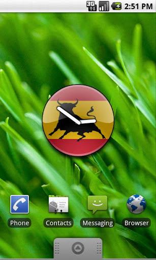 Spanish Bull Flag Widget