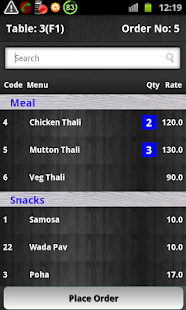 Restaurant Billing System - screenshot thumbnail